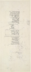 Drawing from a set of sixteen architectural details from Hindu and Muhammadan buildings in India, including Colgong, Deo, Bodhgaya. 1788-93 1778